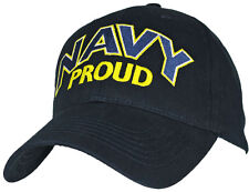 U.S. Navy Proud Hat / USN Navy Blue Baseball Cap 6614