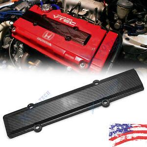 Carbon Fiber Look Valve Cover Spark Plug Insert For Honda Civic B16 B18 VTEC 1pc