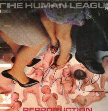 """Human League signed autograph 12"""" LP sleeve UACC AFTAL online COA"""