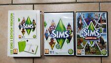 Lot de 2 Jeux Les Sims 3 + sims 3 pets animal