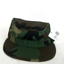 New Us Military Issue Army Woodland Camouflage Bdu Patrol Cap Hat Size 6 3/4