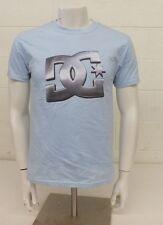 DC Shoe Company Light Blue Logo T-Shirt Men's Small NEW Satisfaction Guaranteed