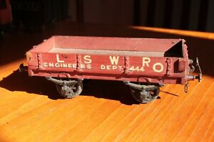 gauge O LSWR engineer's open wagon