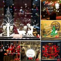 Removable Christmas Vinyl Art Home Window Store Xmas Wall Stickers Decal Decor