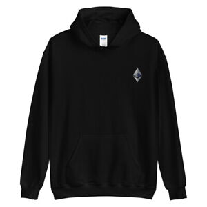 Ethereum Embroidery Hoodie ETH Crypto Trading Trader Gift Sweatshirt