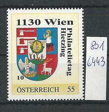 Österreich PM personalisierte Marke Philatelietag 1130 WIEN 8016443 **