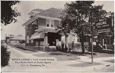 Wolf's Lodge on U.S. 15 in Gettysburg PA Postcard Roadside