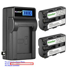 Kastar NP-FM500H Battery, Charger for Sony SLT-A77 A77V A77 II & VG-C77AM Grip
