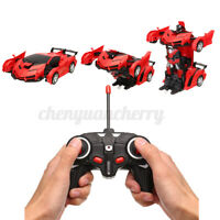 1:18 Remote Radio Control Car Robot One-Button Kid Boys Toy Gift with LED