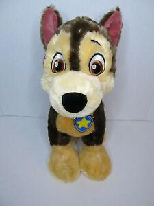 "Build A Bear Paw Patrol Chase Plush Stuffed Animal 14"" w/collar barking voicebox"
