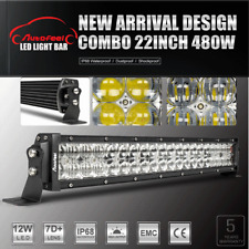 "480W 22Inch 7D+ OSRAM LED WORK LIGHT BAR Combo Off road Driving Lamp vs 20"" 24"""