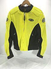 Women's NEW Motorcycle Jacket JOE ROCKET Mesh Armored Padded Yellow Sz Small