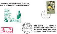 [x37] Erstflugpost - Shanghai - Frankfurt - China Eastern Airlines - 30.06.2006