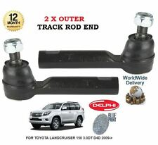 FOR TOYOTA LANDCRUISER 150 3.0DT D4D 2009->NEW 2x OUTER TIE TRACK ROD END SET