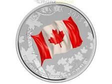 25 $ Dollaro Canadian Flag Canadese Bandiera Canada Color Argento 2015