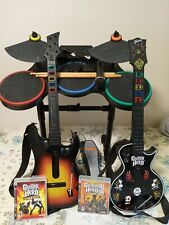 PS3 GUITAR HERO WORLD TOUR COMPLETE  BAND BUNDLE  2 GUITARS, DRUMS, MIC, DONGLES