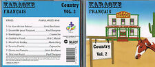 Karaoke CD+G Country Francais Vol. 2  CDG BRAND NEW at MusicaMonette from Canada