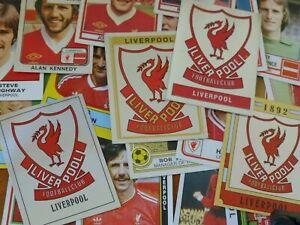 Liverpool Football Stickers 1978-1997 (Panini & FKS)