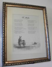 """Framed Picture """"Ol Mule"""" by Guy Simmons"""
