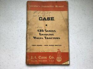 LOOK ORIGINAL Case Model 430, 440? Gasoline Wheel Tractor Operator's Manual 1961
