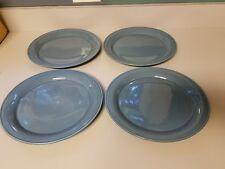 "Nancy Calhoun SOLID COLOR LIGHT BLUE 10 1/2"" Dinner Plates Set of 4"