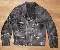 >>> Herren- Motorrad- Lederjacke / Bikerjacke / Jacke in schwarz ca. Gr. 48