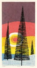 EDWARD LANDON, 'NIGHTFALL', signed color serigraph, 1968