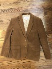 Vintage Women's Corduroy Blazer Jacket Brown Elbow Patches 16 Lined