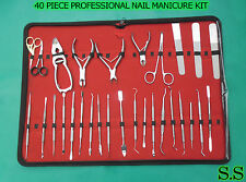 40 PIECE PROFESSIONAL NAIL MANICURE KIT TOOL SET BTS-134