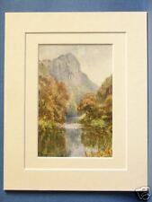HIGH TOR MATLOCK DERBYSHIRE PEAK DISTRICT VINTAGE DOUBLE MOUNTED HASLEHUST PRINT
