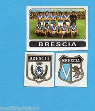FIGURINA PANINI 1972/73-n.388- BRESCIA - SQUADRA+SCUDETTO+STEMMA-Rec