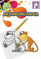A4 Tracing Paper Pad Drafting Paper 40 Sheets Ideal for Home School Office New