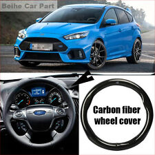 For Ford Focus Carbon Fiber Leather Steering Wheel Cover Sport Racing case