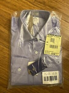 Thomas Mason JCrew Men's Dress Shirt - New, Cambridge blue, Royal Oxford Cotton
