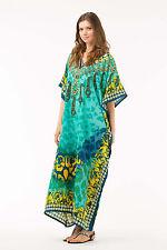 Kushi Free Size Kaftan Tunic Holiday Dress Beach Cover up fits 14,16,18,20,22,24