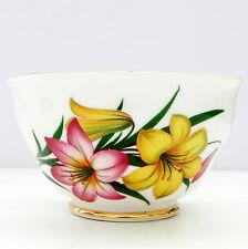 Vintage Crown Regent Bone China Floral Floral Pink Yellow