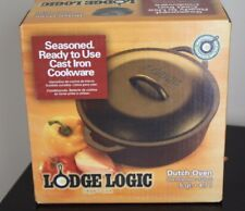 NEW Lodge Logic Cast Iron Dutch Oven 5 Quart New Camping Cooking Hiking Backpack