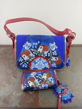 SHARIF DISNEY ALICE THROUGH THE LOOKING GLASS RED QUEEN LEATHER BAG PURSE