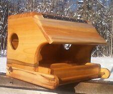 Large combo covered platform bird / squirrel feeder, cedar wood, The Birds Nest