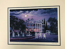 Disneyland Haunted Mansion Vacation Memories Matted Print Signed Larry Dotson