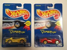 Hot Wheels 1991 #210 Dodge Viper RT/10 Yellow& Red-UH Gold