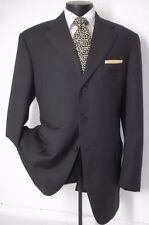 Gianfranco Ferre Dark Gray Textured Wool 3 buttons Side Vents Jacket, Coat 44 L
