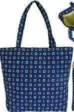 Tote Beach Bag Nautical Small Anchors The Cruise