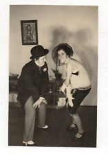 PHOTO Danse Charleston Couple Déguisement Travestissement Drôle Fête 1950