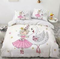3D Ballet Princess Swan Dance KEP540 Bed Pillowcases Quilt Duvet Cover Kay