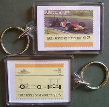 1968 LOTUS FORD 49B Car Stamp Keyring (Auto 100 Automobile)