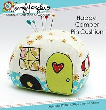 HAPPY CAMPER PIN CUSHION SEWING KIT, Complete Kit From Jennifer Jangles NEW