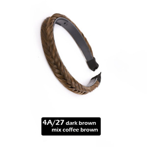 Women Braided Synthetic Hair Black Brown Blonde Plaited Head Hairband Alice Band