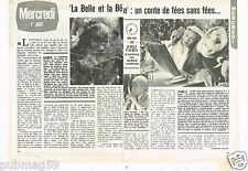 Coupure de presse Clipping 1979 (2 pages) Film La Belle et la Bete Josette day