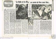 Coupure de presse Clipping 1979 (2 pages) Film La Belle et la Bete Josette day